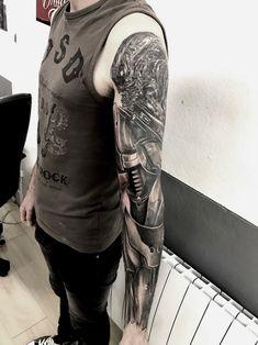 tatouage biomeca par stephane bueno tatoueur studio black corner tattoo valence #tattoo #tattoos #tattooed #tattooart #tattooartist #tattooist #tattooing #ink #inked #inked #girls #angel #realistictattoo #blackcornertattoo #stephanebueno #valence #biomeca #alien #blackandgrey