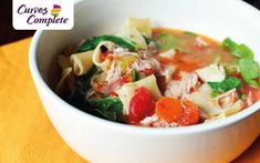 Doesn't this Chicken Noodle Soup look good? It's part of the Curves Complete plan, which pairs our strength training and cardio fitness program on the Curves Circuit with the customizable Curves Meal. Healthy Low Calorie Meals, Low Calorie Recipes, Healthy Recipes, Healthy Food, Curves Complete, Fitness Diet, Cardio Fitness, Complete Recipe, Chicken Noodle Soup