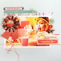 Layout by Adrienne Looman using her NEW Webster's Pages collection for Fall, Family Traditions!