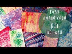 Manualidad para niños: PAPEL MARMOLEADO usando CREMA DE AFEITAR (NO EBRU) by ART Tv - YouTube Crafts For Kids, Arts And Crafts, Diy Crafts, Uñas Diy, Ebru Art, Cool Things To Make, How To Make, Paper Marbling, Scrapbooks