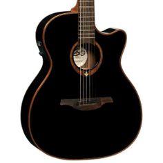 Love at first sight...Guitarra Acústica Lag Tramontane T100DCE Black 3