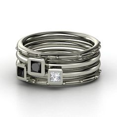 PRINCESS STACKING RING SET @Pascale Lemay Lemay Lemay De Groof