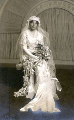 President Wilson's daughter Jessie Wilson Sayer on her wedding day November 25, 1913.