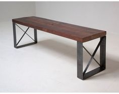 Sleek Modern Industrial Reclaimed Bench / Coffee by BlakeAvenue