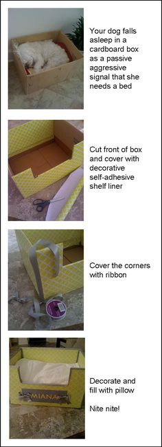 DIY dog bed for under $10  Too cute and Iv'e done this before but you have to have a small dainty dog because they will wear it out as they get in and out of it