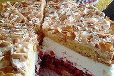 Heaven cake recipes- Himmelstorte Rezepte Sky cake with raspberries - Oreo Dessert Recipes, Mini Desserts, Dessert Bars, Easy Desserts, Cookie Recipes, Pastry Recipes, Gourmet Recipes, Sweet Recipes, Real Food Recipes
