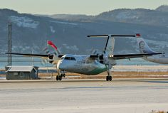 Widerøes DHC-8 103A LN-WIP at ENVA 20. jan. 2013.