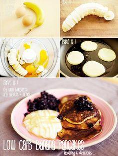 Easy protein banana pancakes
