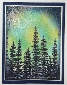 Stamp With Cynthia: Northern Lights WOW Card and Video