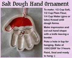 Salt Dough Hand Ornaments! by MMnLWR