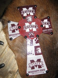 Wall Cross for the Mississippi State Bulldog Fan by cthorses66, $20.00