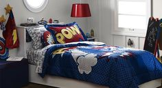 Like this. That way I could do all different super heroes and not have to pick one for the bedding