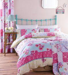 Gypsy Patchwork Floral Bedding Duvet Cover Quilt Set Single Double King | eBay
