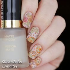 Bundle Monster - Shangrila Floral paisley nail art pattern