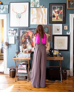 """@ELLE DECOR's """"The Most Fashionable Rooms of the Week"""" and @Gretchen_Jones is one of them!?  HOLY CRAP>> Gretchen Joness Office"""