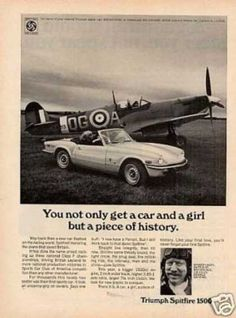 American Triumph Spitfire advert courtesy of vintageadbrowser.com