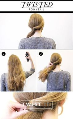 If you've been wondering how to make the perfect ponytail, then you are at the right place. Someone already found a way to make the perfect ponytail and Summer Ponytail, Ponytail Wrap, Perfect Ponytail, Twist Ponytail, Ponytail Updo, Ponytail Tutorial, Holiday Hairstyles, Ponytail Hairstyles, Hairstyle Hacks