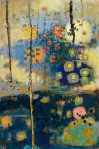 ♒ Art in the Abstract ♒ modern painting - Rick Stevens - Rising from the Depths, oil on canvas, 48 x 32 Tachisme, Rick Stevens, Modern Art, Contemporary Art, Backgrounds Wallpapers, Guache, Landscape Art, Love Art, Painting Inspiration