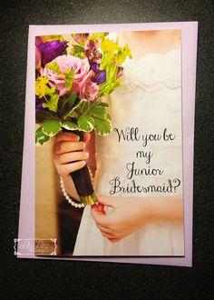 Will you be my Junior Bridesmaid card by LilyLilesWeddingco