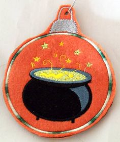 Yule Cauldron Ornament wiccan pagan by NittyGrittyThreads on Etsy, $7.50