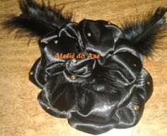 ATELIÊ DO AXÉ: flor para cabelo preta