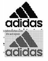 Adidas logo free small cross stitch pattern