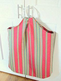 bolsa para ropa sucia en lona, me gustó para la playa también!!