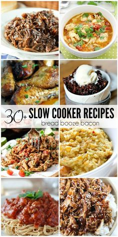 These Slow Cooker Recipes prove that your crock pot isn't just some relic from the Get dinner, dessert, or dips on the table in a snap with these killer dishes! Best Crockpot Recipes, Crockpot Dishes, Slow Cooker Recipes, Cooking Recipes, Crockpot Meals, Freezer Meals, Budget Recipes, Cooking Food, Bread Recipes