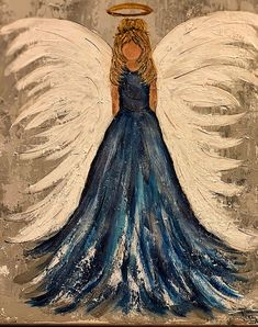 I bet this is what my daughter, Jessica, looks like in heaven.💗 - I bet this is what my daughter, Jessica, looks like in heaven. Cute Canvas, Diy Canvas Art, Christmas Angels, Christmas Art, Angel Drawing, Angel Sketch, Angel Artwork, Angel Crafts, Angel Pictures