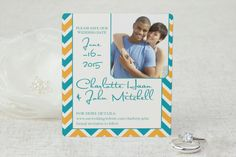 Chic Chevron - Save the Date Magnet by MagnetStreet