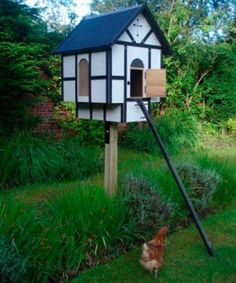 Chicken coops fancy chicken coop and coops on pinterest for Fancy chicken coops for sale
