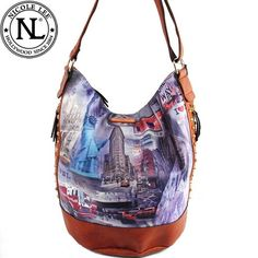 Click Here and Buy it on Amazon.com Price:	$63.99 Amazon.com: Nicole Lee Davida NEW York Print Bucket Bag Unique Gitana Vintage Landscape Print Rhinestone Gemstone Studded Detailed Bucket Style Tote Satchel Hobo Shoulder Handbag Purse with Adjustable Shoulder Strap in Brown: Clothing