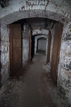 The tunnels under Danvers State Mental Hospital in Danvers, Massachusetts. [I worked here in the but in the when I was in nursing school we would go off and explore these tunnels, really scary (DP)] Spooky Places, Haunted Places, Abandoned Asylums, Abandoned Places, Old Buildings, Abandoned Buildings, Abandoned Detroit, Insane Asylum, Abandoned Hospital