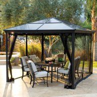 a39eafe362962b288180ffa122a438cb - Better Homes And Gardens Sullivan Ridge Hardtop Gazebo With Netting