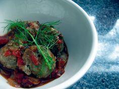 Greek turkey meatballs with fennel marinara
