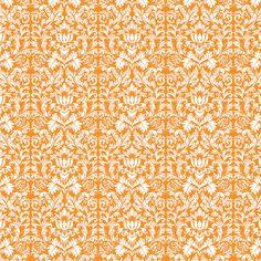 Orange Damask Scrapbook Paper. #Freebies