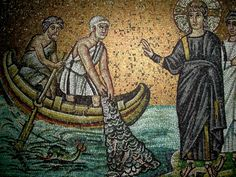 jesus casting nets | The Calling of the Apostles, Mosaic, San Marco, Santa Maria Assunta in ...