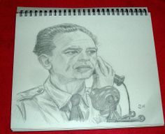THE ANDY GRIFFITH SHOW/BARNEY FIFE/PENCIL DRAWING SIGNED BY ARTIST   BW