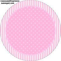 Imprimés Pois & Rayures - Rose Pastel : http://fazendoanossafesta.com.br/2013/07/poa-e-listra-rosa-kit-completo-com-molduras-para-convites-rotulos-para-guloseimas-lembrancinhas-e-imagens.html/