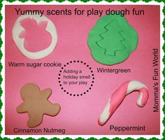 Momma's Fun World: Holiday/Christmas scented play dough