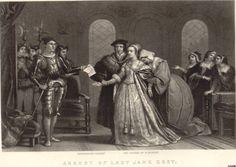 Arrest of Lady Jane Grey Lady Jane Grey, Jane Gray, Uk History, Tudor History, Mary Tudor, English Monarchs, John Charles, Mary I, Queen Of England