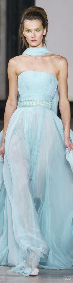 Georges Chakra, Blue Fashion, Fashion Outfits, Pastel Fashion, High Fashion, Dress Vestidos, Shades Of Turquoise, Vogue, Haute Couture Fashion
