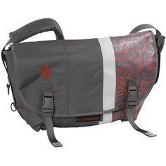 Timbuk2 D-Lux Race Stripe Messenger Bag - Medium in Gunmetal/Revlon Red/Gunmetal