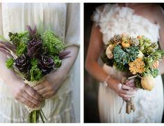 Sweet Violet Bride - http://sweetvioletbride.com/2013/03/fresh-garden-fruit-veggie-wedding-bouquets/