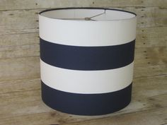 Lamp Shade Drum Lampshade Pendant Navy Zigzag by SweetDreamShades Navy Lamp Shade, Drum Shade, Chandelier Shades, Lamp Shades, A Table, Table Lamp, Home Design Diy, Rustic Lamps, Wide Stripes