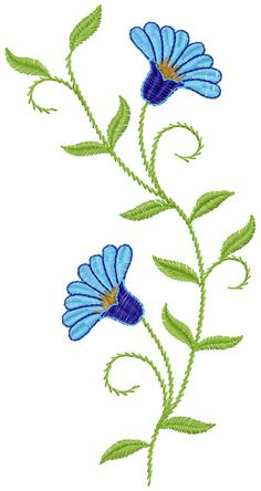 Basil free embroidery design 4 - Flowers free machine embroidery designs - Machine embroidery community