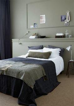 Landelijk wonen! | Het bed wordt door de achterwand mooi naar voren geschoven. Door EssieEs