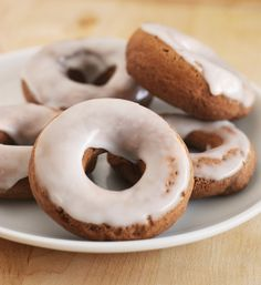 Baked Chocolate Doughnuts with Buttermilk Glaze by fakeginger, via Flickr