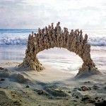 Peculiar Abstract Sandcastles by 'Sandcastle Matt'