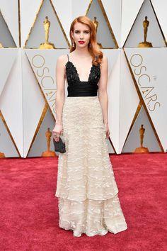 Emma Roberts con vestido de la primera colección de Armani Privé
